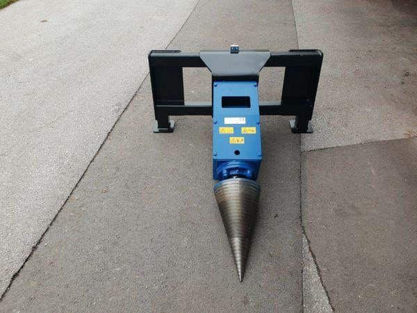 Super Kegelspalter Holzspalter Bagger Front Radlader Modell 800 ccm mit #RX_81