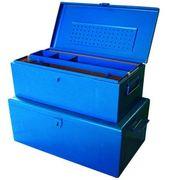 Stahlblechkoffer Montagekoffer blau 690x360x310mm