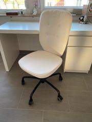 IKEA Schreibtischstuhl Lillhöjden weiß mit