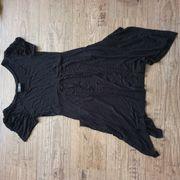Long-Top Shirt Kleid schwarz Gr