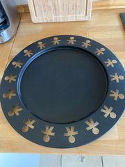 Alessi - schwarze runde Platte 40