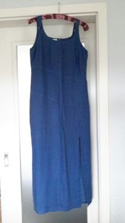 Blaues Leinenkleid Größe 42