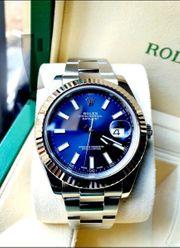 Rolex Datejust 41 Blau Weißgoldlünette