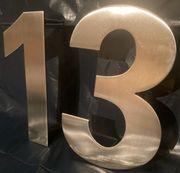 Hausnummer Edelstahl 1 oder 3