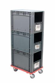 3x Eurostapebelhälter inkl Transportroller Lagerkiste