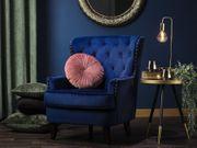 Sessel Samtstoff blau VIBORG II