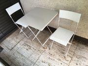 2 Gartenstühle und Gartentisch - Alu