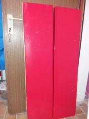 2 Regalböden rot Ikea