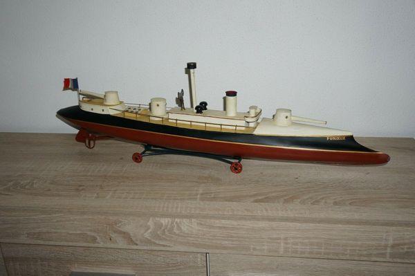 Rarität Küsten Kanonenboot Furieux uralt