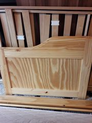 Massivholz-Bett aus Kiefer 90x200 cm