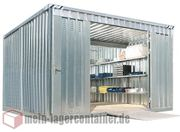 3x4m Lagercontainer Kombination Schnellbaucontainer Materiallager