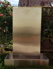Wunderschöne Edelstahl-Wasserwand Verwendung Innen und