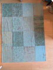 Teppich Vintage Optik in türkis