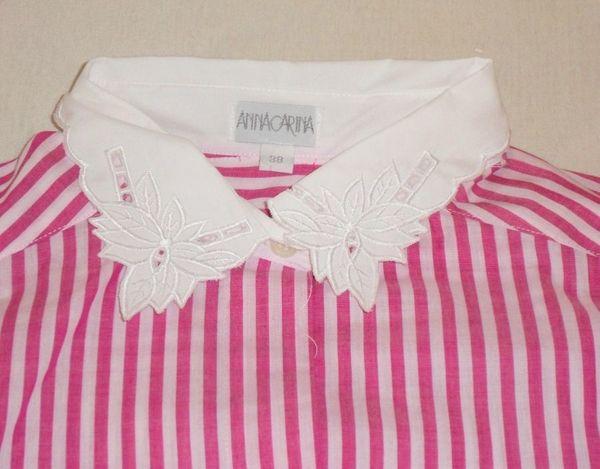 NEU rosaweiß gestreifte langärmelige Bluse