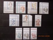 Briefmarken Bund Frauen Eckrand und