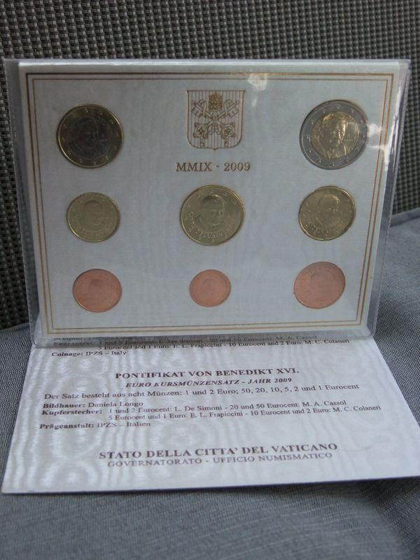 VATIKAN KMS Kursmünzensatz 2009 stempelglanz