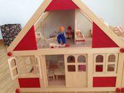 Puppenhaus Holz gebraucht Top-Zustand 56x53