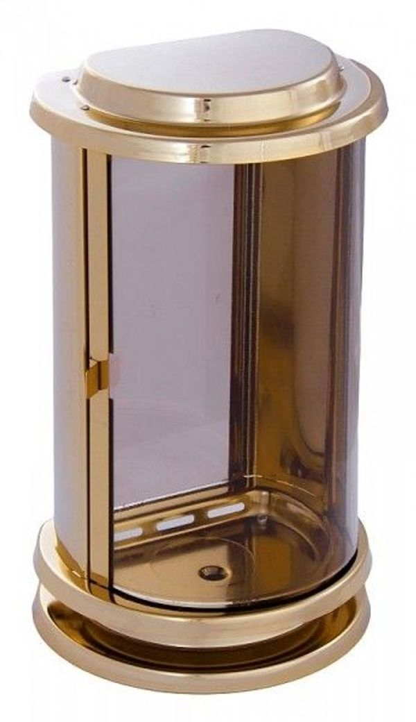 Grablaterne goldfarben Grablampe Grablicht Grableuchte