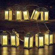 NEU LED Lichterkette 10 Laternen