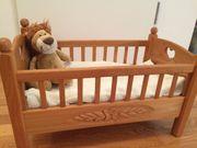 Wunderschönes Puppenbett Massivholz