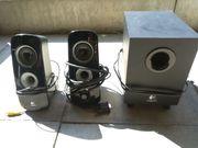 Logitech 2 1 PC Lautsprecher
