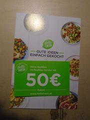 Kochbox Gutschein Hellofresh at Wert