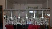 5-flammige Kristallglas-LED-Hängeleuchte