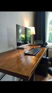 Schreibtisch Braun lasiert Groß