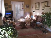 Antike Sitzgruppe mit Holzschnitzerei Sofa -