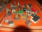 Konvolut von Häusern aus Modelllandschaft