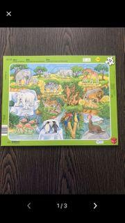 Puzzle Zoo 12 Teile Rahmenpuzzle