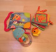 Babyspielzeug zu verkaufen Stoffbuch Rassel