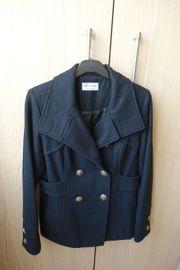 Damenjacke Wolljacke schwarz Gr 38