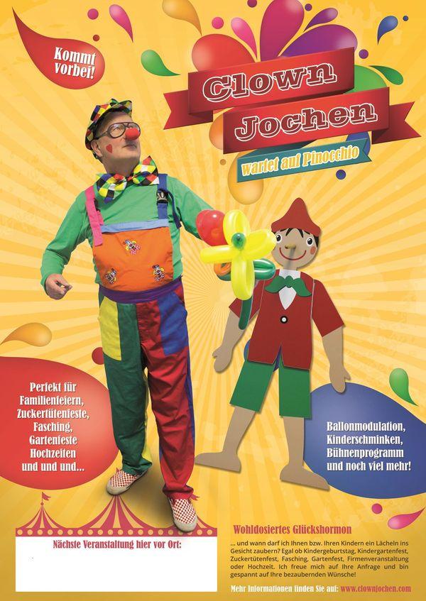 Clown Kindergeburtstag Zauberei Ballonkünstler in