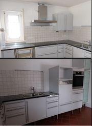 Große Küche grau Miele Spülmaschine