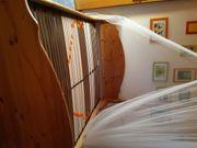 140 cm Holzbett mit Lattenrost