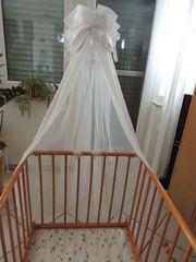 Betthimmel mit Gestänge für Babybett