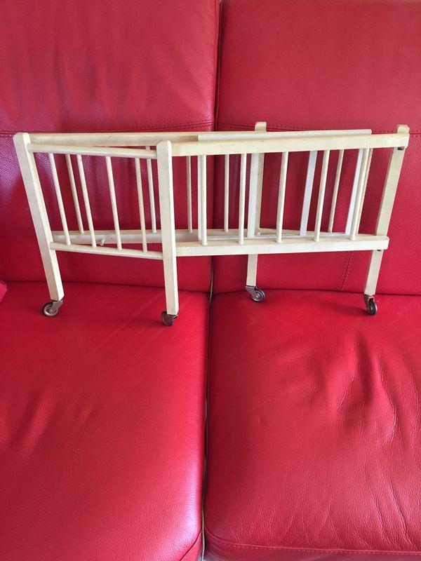 Puppenbett Holz antik klappbar 50