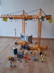 Playmobil Baustelle 2x Baukran großes