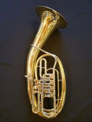 Bariton - Schmid - 4 ventilig - Goldmessingkorpus -