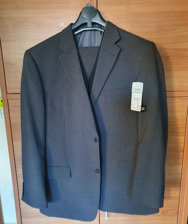 Herren Anzug 3-teilig Grau Gr