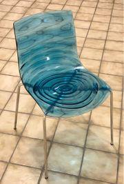 4Stk Plexiglas Design Sessel Stuhl