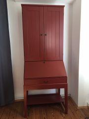 Ikea Sekretär Schreibtisch in rot