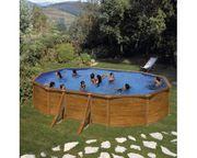 Pool Aufstellpool Stahlwandpool-Set Solo oval