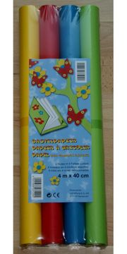 NEU - Farbiges Bastel-Papier - 4 m