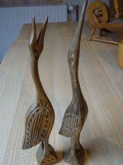 Holzfiguren Kraniche