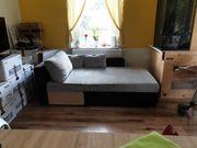 Sofa schwarz grau