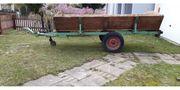 Oldtimer Einachsanhänger für Traktor