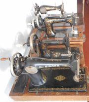 4 Antike Nähmaschinen - Tischmaschinen