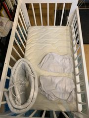 Beistellbett Baby Bett weiß Fabimax
